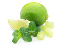 Lime with sugar candy Stock Photo
