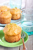 Lime syrup coconut muffins Royalty Free Stock Images
