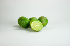 Lime. Thai green lime in white background Royalty Free Stock Photos