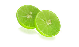 Lime. Thai limes - with slice lime Royalty Free Stock Photos