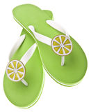 Lime Themed Flip Flops Stock Photos