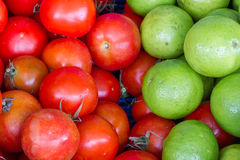 Lime and tomato fresh from the farm. Ready to cook Royalty Free Stock Photos
