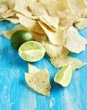 Lime Tortilla Chips Stock Photos