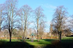 Quarry Park in Shrewsbury, England royalty free stock photo