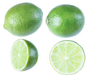 Lime, tropical fruit, isolate on a white background. Stock Image