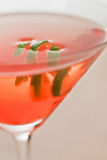 Lime twist garnish. Closeup of a martini garnished with a fresh lime twist stock photos