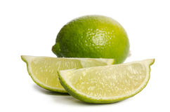 Lime and two slices Stock Image
