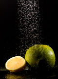 Lime under water jets Stock Photography