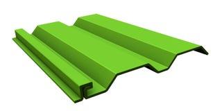 Lime vinyl siding Stock Photo