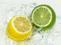 Lime vs Lemon stock images