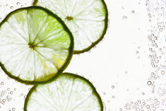 Lime in the water Royalty Free Stock Photos