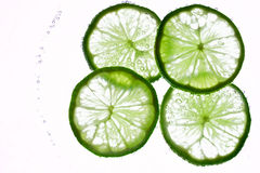 Lime in the water Royalty Free Stock Photography