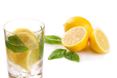 Lime water royalty free stock photography