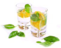 Lime water. With fresh mint leafs Stock Photography