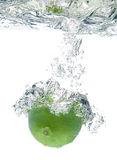 Lime in water Stock Photography