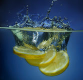 Lime in water Stock Image