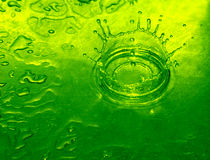 Lime Water Drop stock image