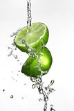 Lime and Water Royalty Free Stock Photo