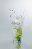 Lime Water Splash Stock Image