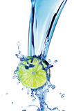 Lime with water splash Royalty Free Stock Photography