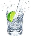 Lime water splash Royalty Free Stock Photo