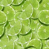 Lime watercolor slice fruit seamless pattern. Background texture.