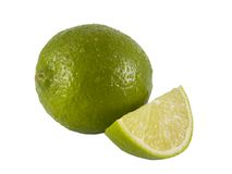 Lime wedge Royalty Free Stock Photo