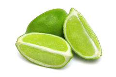 Lime Wedges royalty free stock photo