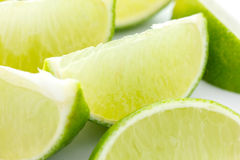 Lime wedges stock image