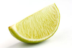 Lime wedges Royalty Free Stock Images