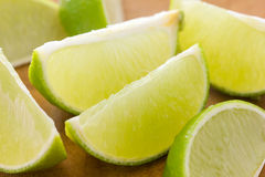 Lime wedges Royalty Free Stock Photos