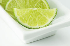 Lime Wedges Royalty Free Stock Photography