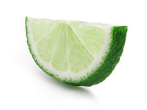Lime wheel halved isolated Royalty Free Stock Image