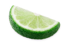 Lime wheel halved isolated Stock Photo