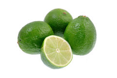 Lime on white Royalty Free Stock Image
