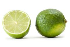 Lime on a white background Stock Photo