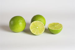 Lime, white background Royalty Free Stock Image