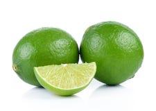 Lime on white background Stock Image