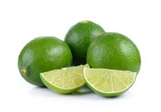 Lime on white background Royalty Free Stock Images