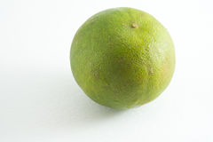 Lime on white background. Lime is use for cooking in Thai, its has wonderful taste with sour and little sweet taste royalty free stock photos