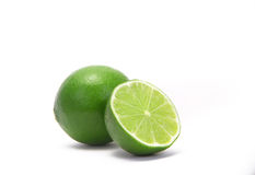 Lime. A lime in a white place Royalty Free Stock Photo