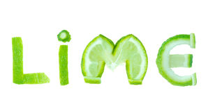 Lime word Royalty Free Stock Photo
