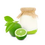 Lime yogurt Royalty Free Stock Photos