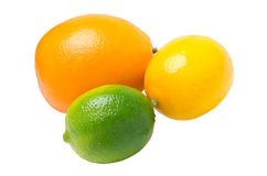 Limefrukt, citron och apelsin Arkivfoton