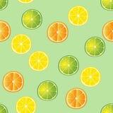 Limefrukt-, citron- och apelsinskivamodell Royaltyfri Fotografi