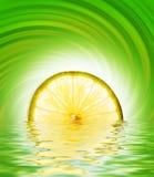 limefrukt framfört skivavatten arkivbilder