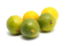 Limefrukt och citron Arkivbilder
