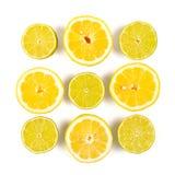 Limefrukt och citron arkivfoton