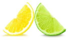 Limefrukt och citron arkivfoto