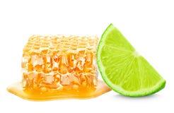 Limefrukt och honung Royaltyfria Bilder